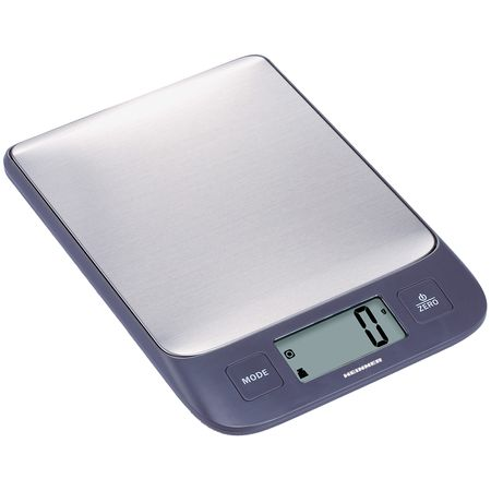 Cantar de bucatarie Heinner HKS-5IXBK, 5 Kg, 1g, tara, functie cantarire lichide, display LCD, Inox