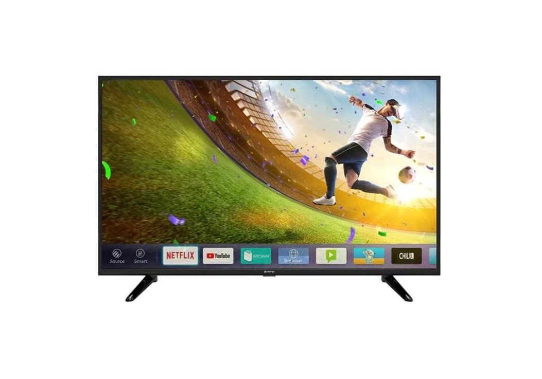 "Televizor LED Smart VORTEX V50TD1200S 50"" (127 cm), Smart TV, Plat, 4K (UltraHD), Linux, Negru"