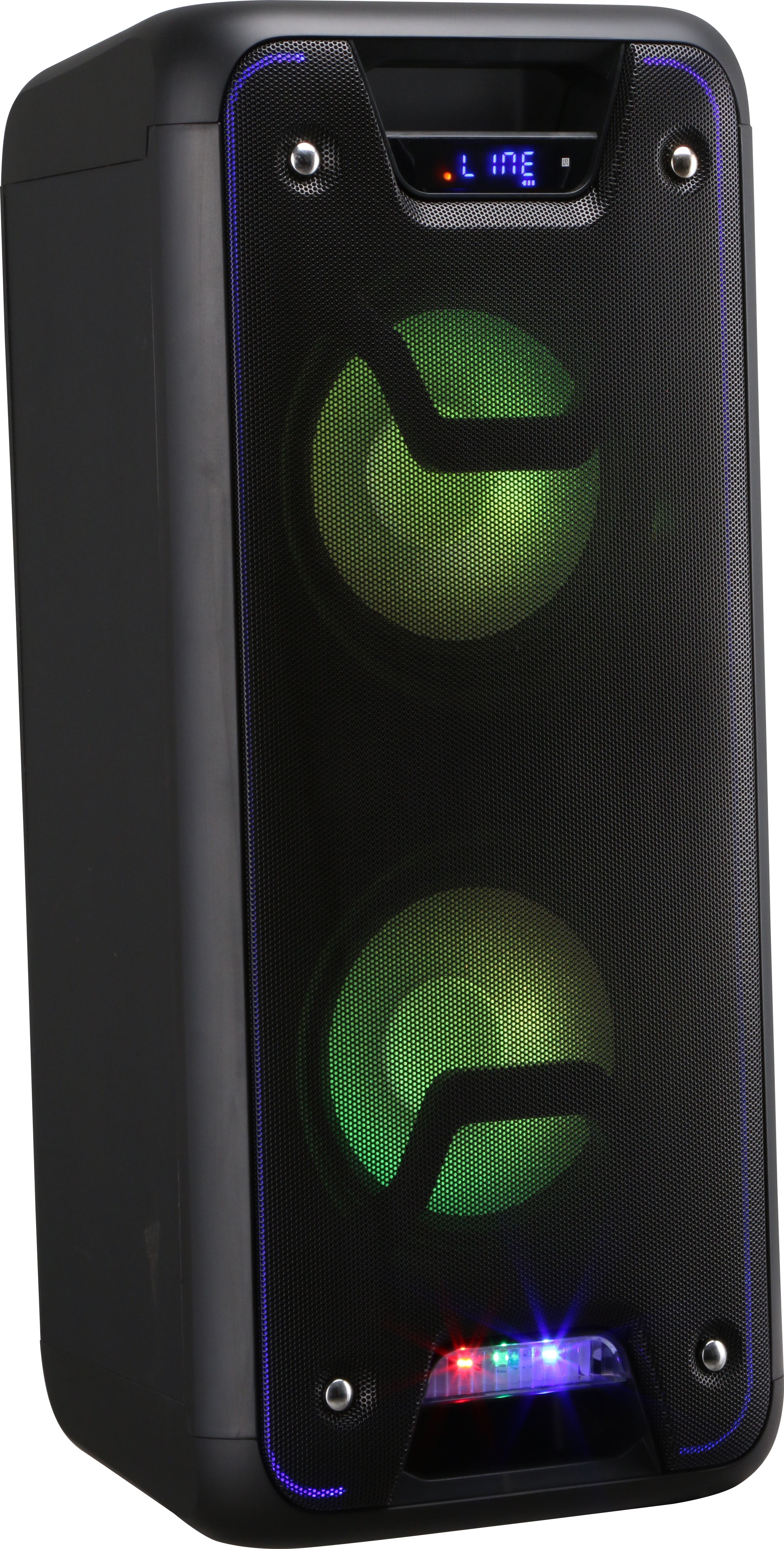 Boxa portabila cu microfon Wireless VORTEX VO2602, Bluetooth, USB, Radio FM, negru