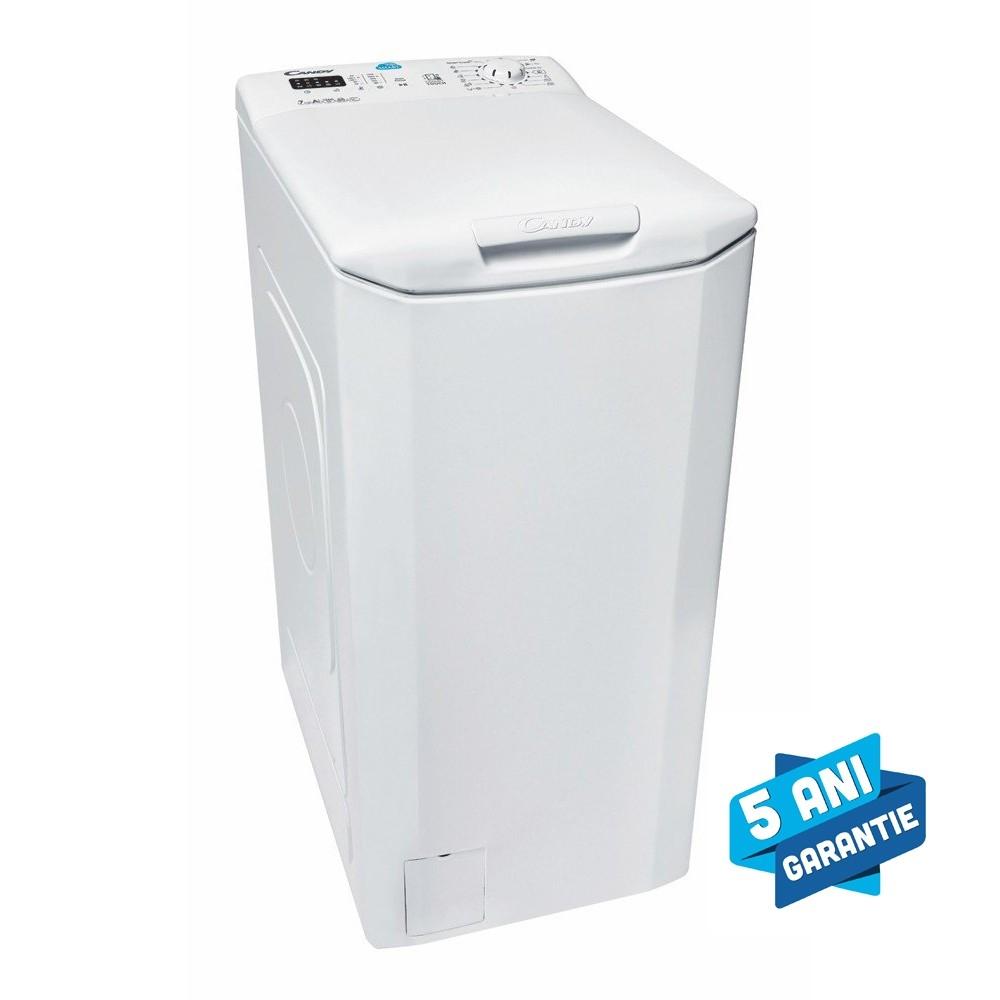 Masina de spalat rufe cu incarcare verticala Candy CST 372L-S, 7 kg, 1200 rpm, A+++, Functii SMART prin NFC, LCD, Alb 31007557