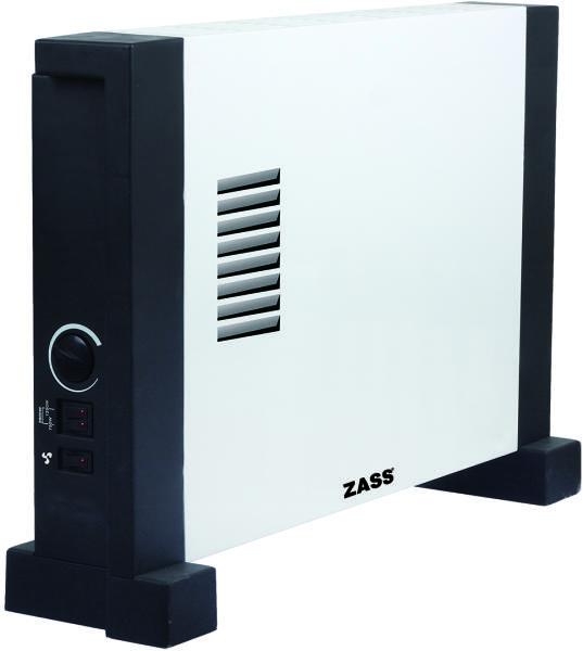 Convector electric Zass ZKH 05T, 2000W, Turbo, Amplasare pe perete sau podea