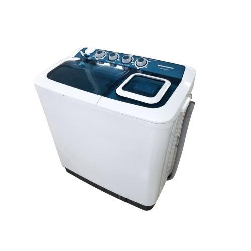 Masina de spalat rufe semiautomata Heinner HSWM-AD84BL, 8 Kg, 4.6 Kg, Alb/Albastru