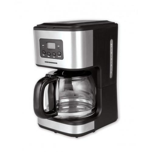 Cafetiera Heinner HCM-D915, 900W, 1.5L, Timer electronic, Negru/Inox
