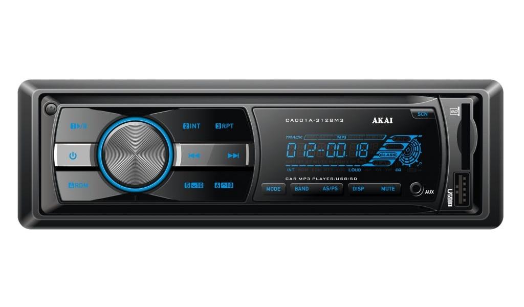 Radio auto Akai CA001A-3128M3, 4x35W, USB, AUX