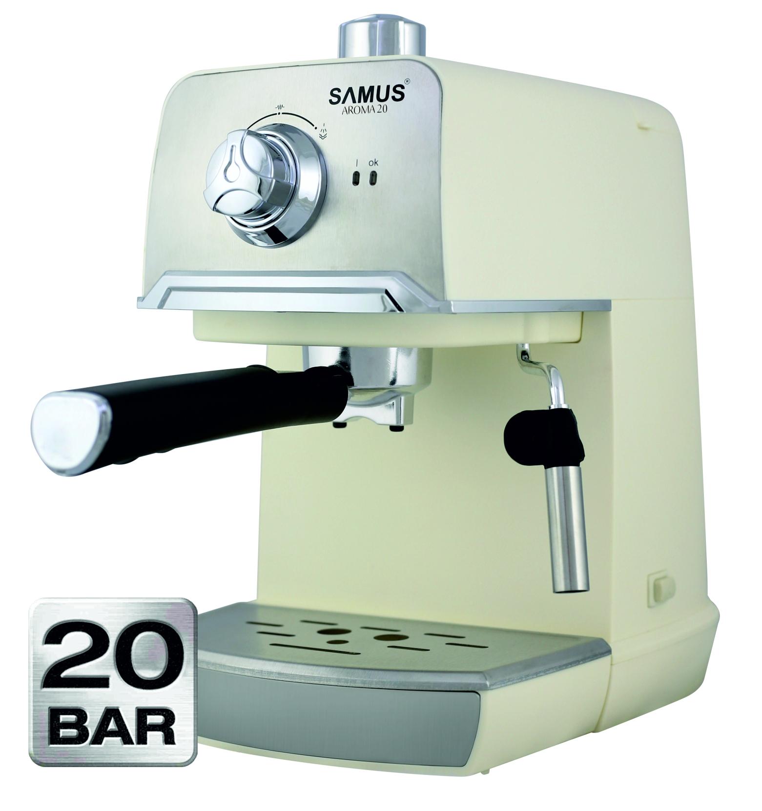 Espressor Samus Aroma 20, 850 W, 20 Bar, 1.2 l, Alb