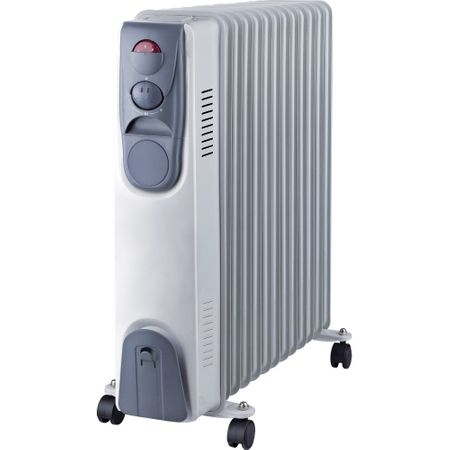 Calorifer electric Vortex YLA0613, 2500 W, 13 elementi, 3 trepte de putere, Termostat, Indicator luminos, Protectie supra-incalzire