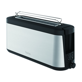 Prajitor de paine Tefal Element TL430811, 1000 W, 7 nivele de control, functie de dezghetare, functie bagheta, inox