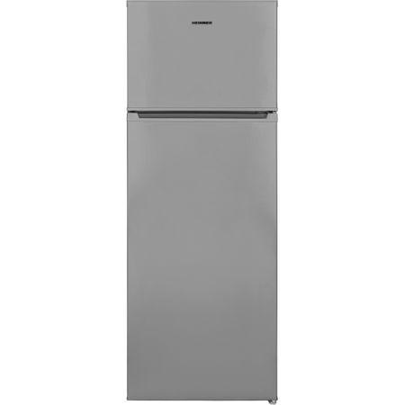 Frigider cu doua usi Heinner HF-V213SA+, 213 l, Clasa A+, Control mecanic, H 144 cm, Argintiu
