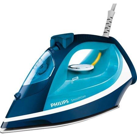 Fier de calcat Philips Smooth Care GC3582/20, Talpa EasyFlow Ceramic, 2400 W, 0.4 l, 170 g/min, Functie curatare Calc Clean, Albastru