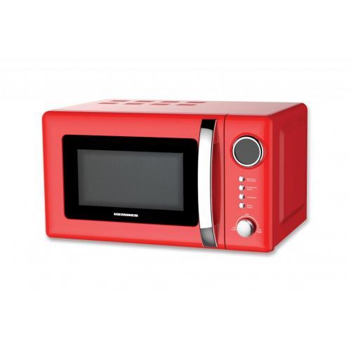 Cuptor cu microunde Heinner HMW-20GRD, 700 W, 20 l, Grill, Digital, Rosu