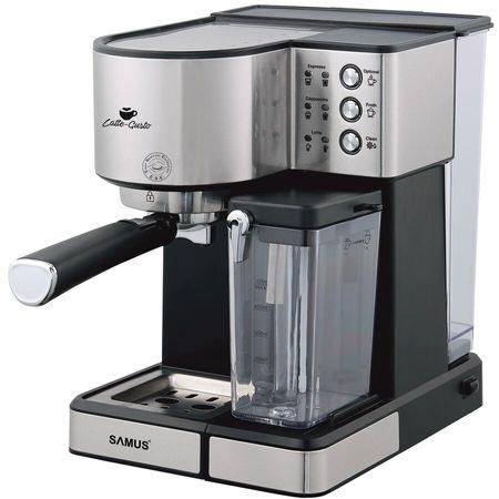 Espressor Samus Latte-Gusto, 1350 W, 20 Bar, 1.8 l, Negru / Inox