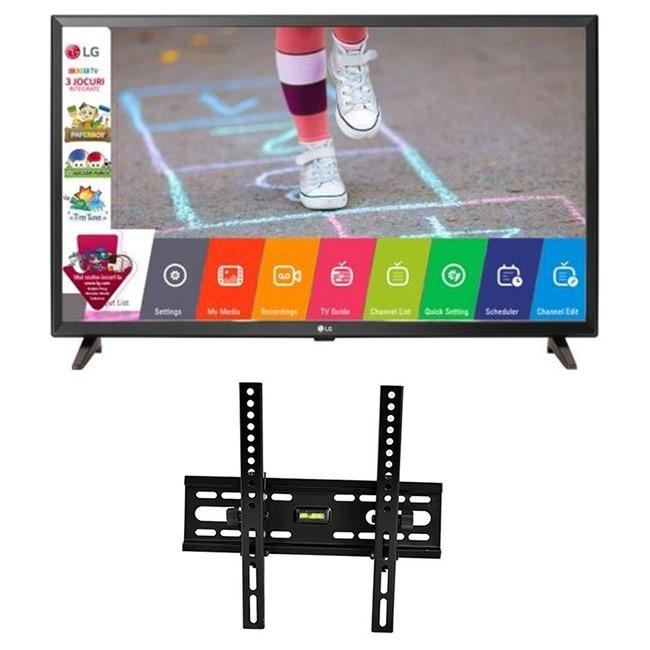 Pachet Televizor LED Game TV LG, 80 cm, 32LK510BPLD, HD si Suport TV RTS, HT-001, Reglabil, diagonala 38-106 cm, negru