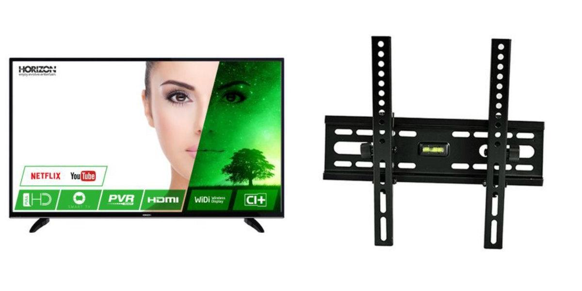 Pachet Televizor LED Smart Horizon, 102 cm, 40HL7330F, Full HD si Suport TV HT-001, Reglabil, diagonala 15-42 inch