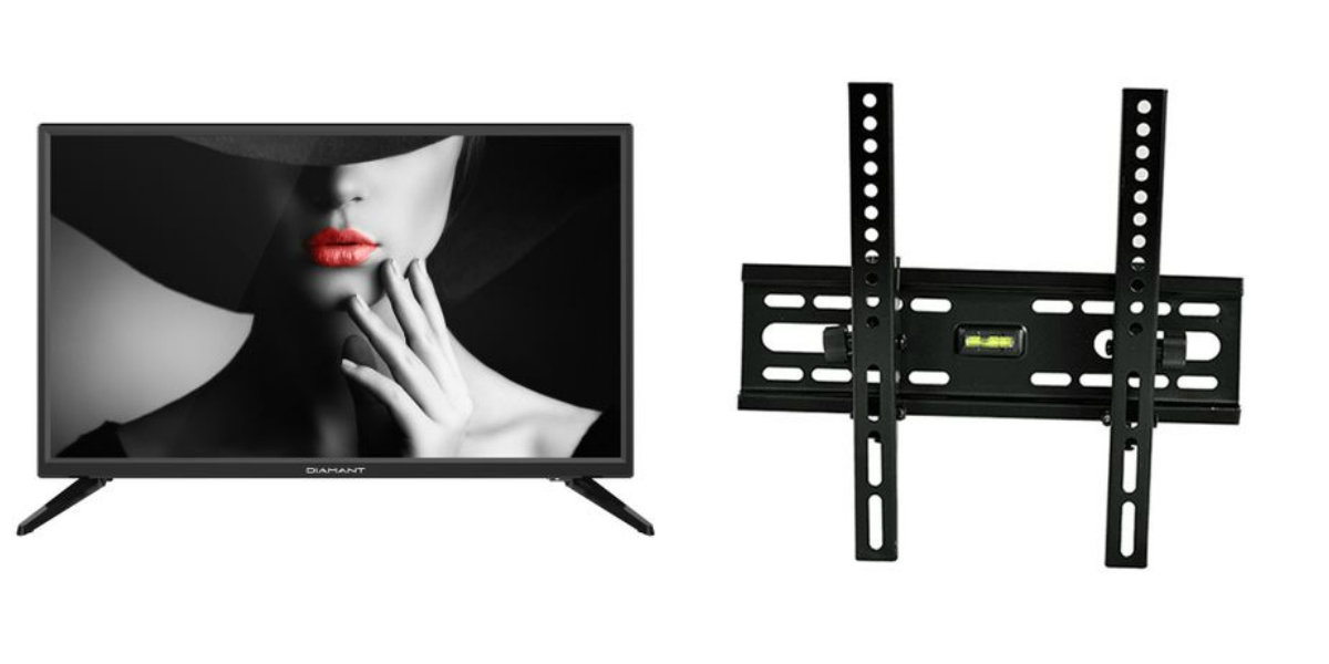 Pachet Televizor LED Diamant, 61 cm, 24HL4300H/A, HD si Suport TV RTS, HT-001, Reglabil, diagonala 15-42 inch, negru