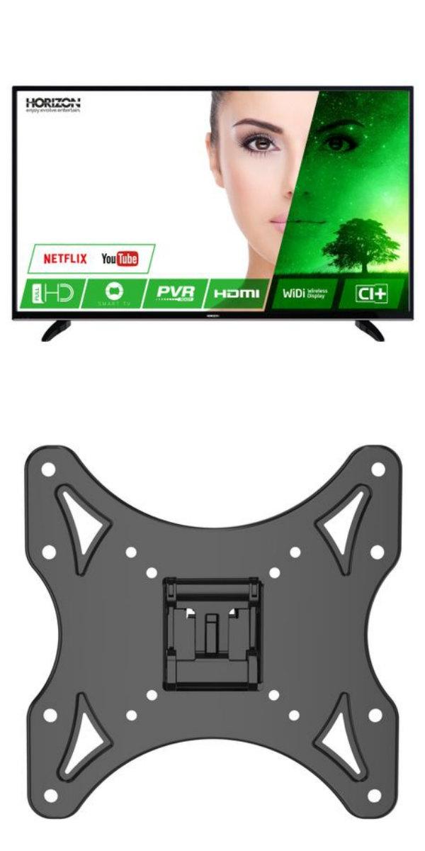 """Pachet Televizor LED Smart Horizon, 102 cm, 40HL7330F, Full HD si Suport TV de perete Serioux TV23T, Reglabil, 17""""-42"""", 25 kg"""
