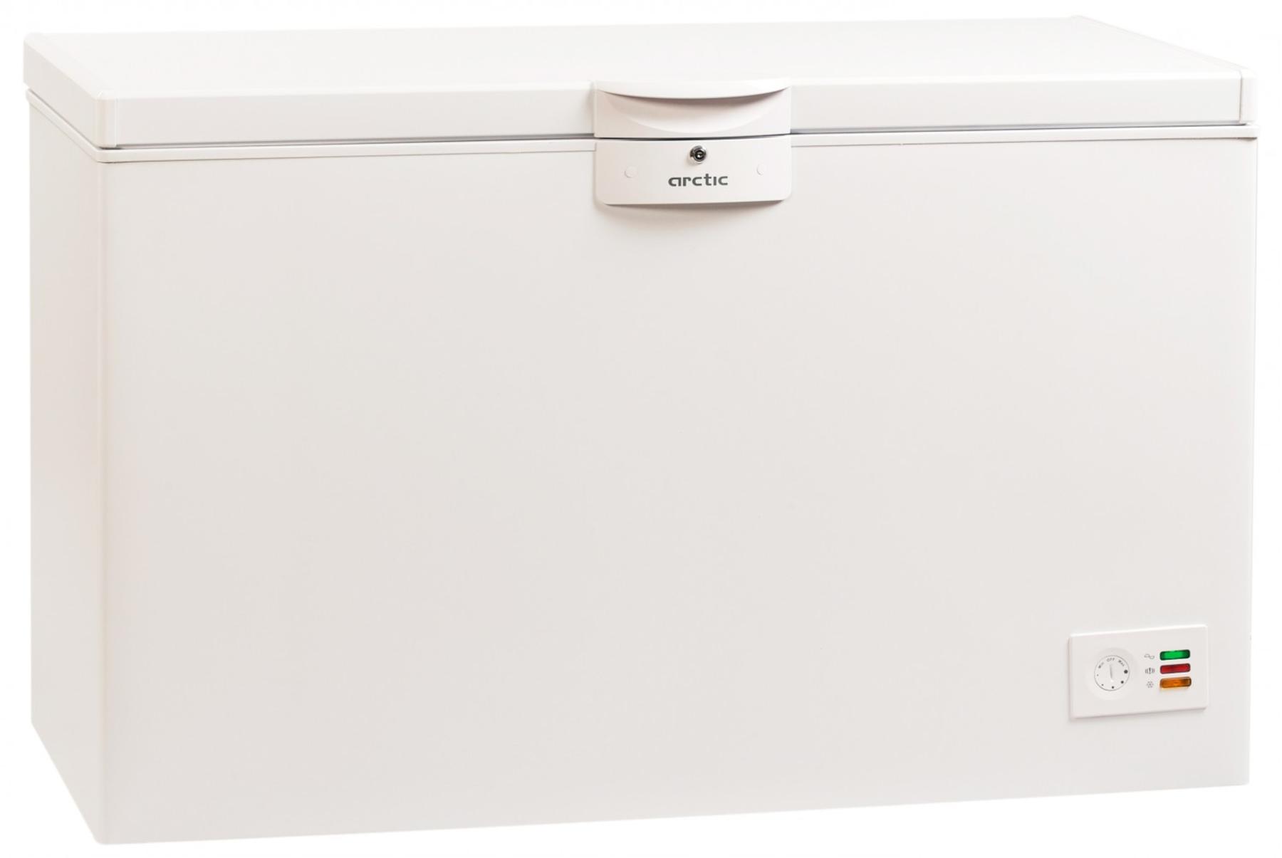 Lada frigorifica Arctic O40+, 360 l, Clasa A+, 2 cosuri, Yala, L 128.5 cm, Alb