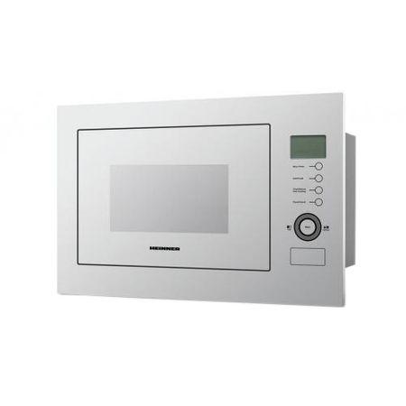 Cuptor cu microunde incorporabil Heinner HMW-25BIGWH, 25 L, 900 W, Grill, Control touch, Display LCD, Sticla Alba