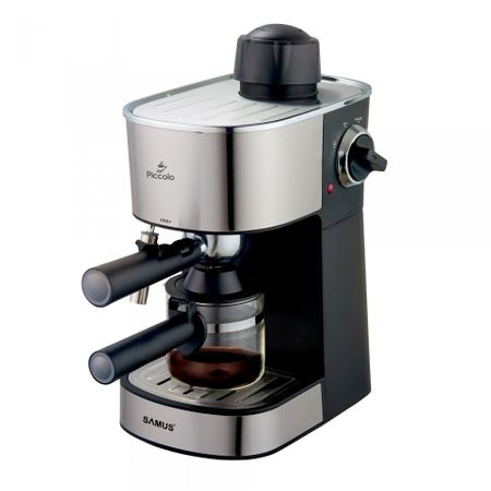 Espressor Samus Piccolo 800 W, 3.5 bar, 240 ml, Negru/ Inox