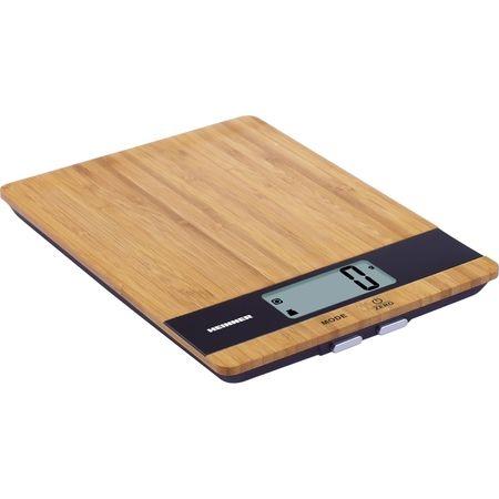 Cantar de bucatarie Heinner HKS-5BB, 5kg, tara, functie cantarire lichide, 1 gr., Bambus