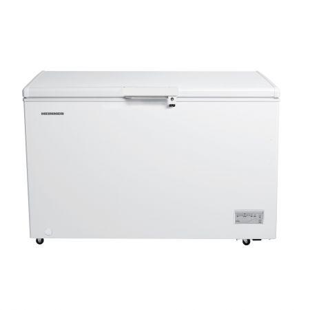 Lada frigorifica Heinner HCF-380NHF+, 380 l, Clasa A+, Control elecronic, 2 cosuri, Iluminare LED, Waterproof Display, Alb