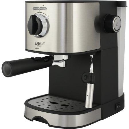 Espressor Samus Cremoso, 850 W, 15 Bar, 1.2 l, Negru / Argintiu