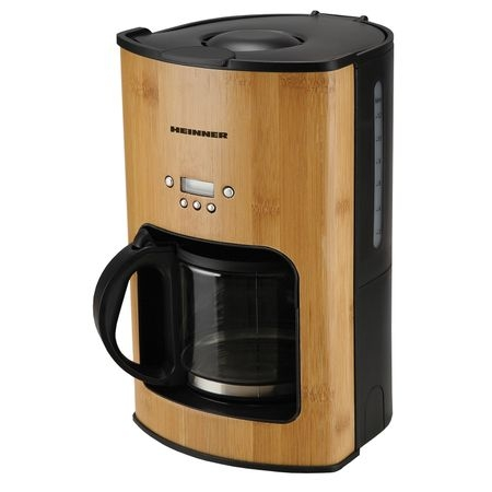 Cafetiera Heinner HCM-BB1080, 1080W, 1.5l, Timer, LCD, Bamboo