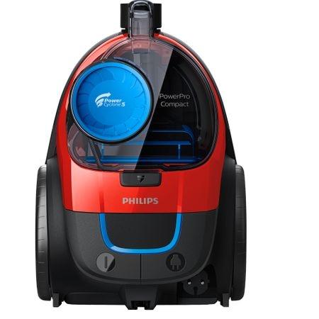 Aspirator fara sac Philips PowerPro Compact FC9330/09, 650 W, PowerCyclone 5, Perii TriActive, Rosu