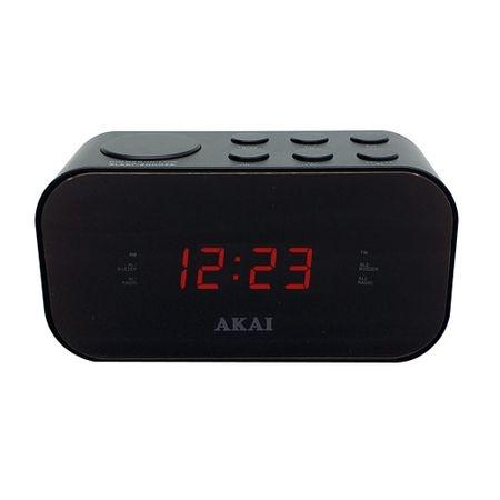 Radio cu ceas si alarma AKAI ACR-3088, Proiectie, Negru