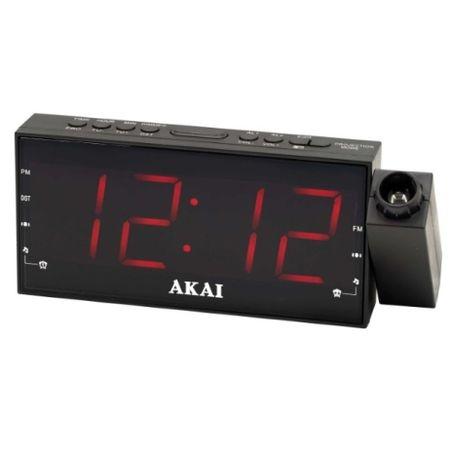 Radio cu ceas AKAI ACR-1001, FM radio, dual alarm, proiector si functie incarcare telefon