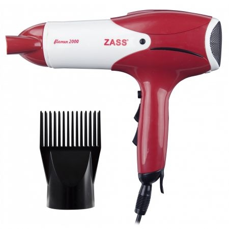 Uscator de par Zass ZHD 02, 2000W, 2 viteze, 3 trepte temperatura