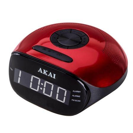 Radioceas AKAI ACR-267, radio FM si AM, dual alarm, Bluetooth si mufa auxiliar