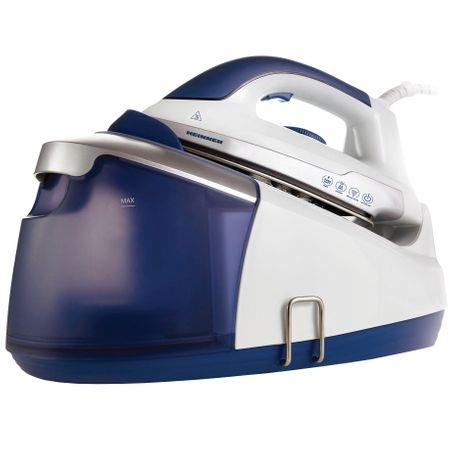 Statie de calcat Heinner HIS-D2403BL, 2400 W, 3.5 bar, 1.2 L, 100g/min, temperatura ajustabila, Alb/Albastru