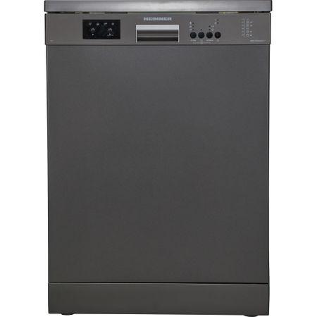 Masina de spalat vase Heinner HDW-FS6006DGA++, 12 seturi, 6 programe, Clasa A++, Control electronic, Display LED, 60 cm, Gri antracit - Silver