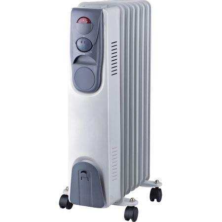 Calorifer electric Vortex YLA067, 1500 W, 7 elementi, 3 trepte de putere, Termostat, Indicator luminos, Protectie supra-incalzire