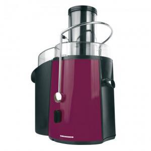 Storcator de fructe si legume Heinner XF-1000BG, 1000 W, Recipient suc 1 l, Recipient pulpa 2 l, 2 Viteze, Tub de alimentare 75 mm, Visiniu